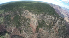 Grand Canyon Landscape - Birds Eye Point Of View Stock Footage