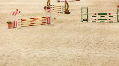 Equitation. Obstacle for jumping horses. Kuvituskuvat