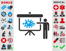 Bacteria Lecture Icon - stock illustration