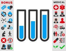 Blood Analysis Icon - stock illustration