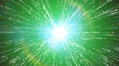 starburst particle emitter abstract green background - stock footage