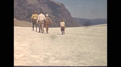 Vintage 16mm film, 1941, glacier color, walking atop Stock Footage