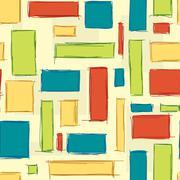 Repeatable geometric rectangle pattern Stock Illustration