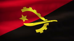 Angola flag waving - stock footage