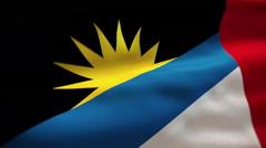 Stock Video Footage of antigua and barbuda flag waving
