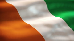 Ivory Coast flag waving Stock Footage