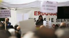 Anti Erdogan protest Stock Footage