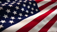 United states of american flag waving Stock Footage