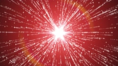 starburst particle emitter abstract red background - stock footage