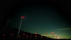 San Gorgonio Wind Farm Astral Time-Lapse - stock footage