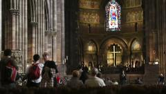 Strasbourg cathedral Stock Footage