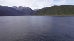 Aerial footage of Milford Sound region - stock footage