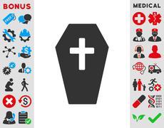 Coffin Icon - stock illustration