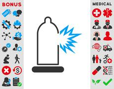 Condom Damage Icon Stock Illustration