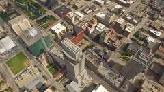 Aerial Nebraska Omaha - stock footage