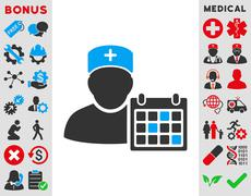 Doctor Appointment Icon - stock illustration