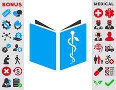 Drug Handbook Icon Stock Illustration