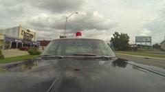 Old Police Car Hood.mp4 Stock Footage