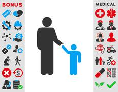 Father With Son Icon Stock Illustration