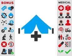 Filed Hospital Icon - stock illustration