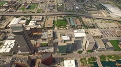 Stock Video Footage of Aerial Nebraska Omaha