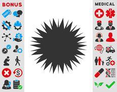 Microbe Spore Icon - stock illustration