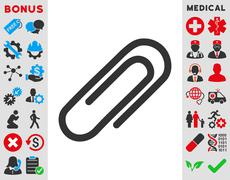Paperclip Icon - stock illustration