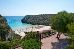 Cala En Porter Beach, Menorca, Spain Stock Photos