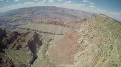 Grand Canyon One of The Seven Wonders - Birds Eye Point of View Stock Footage