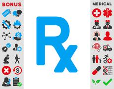 Prescription Symbol Icon - stock illustration