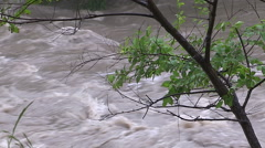Toronto Don Valley Parkway DVP highway flooded after major rain storm Stock Footage