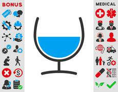 Remedy Glass Icon - stock illustration