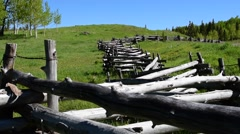 Colorado Country Fence - stock footage