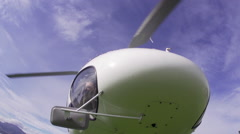 Footage of a helicopter taking off Stock Footage