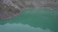 Aerial footage of a mountain lake Stock Footage