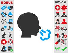 Sneezing Icon - stock illustration