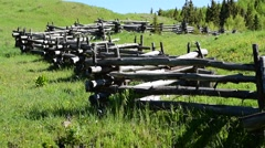 Colorado Country Fence Stock Footage