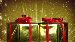 Gift boxes and christmas glitter seamless loop 4k (4096x2304) Stock Footage