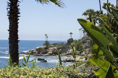 Coastal Scene at Laguna Beach California - stock photo