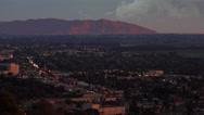 Stock Video Footage of Sunset behind Ventura, Camarillo and Oxnard in California.