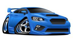 Modern Import Sports Car Illustration Stock Illustration