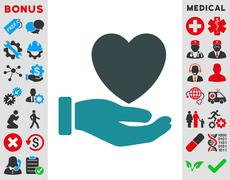 Stock Illustration of Heart Charity Icon