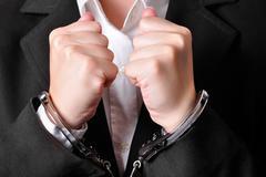 Stock Photo of Handcuffed