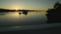 Dolly shot Ganges Harbor, Salt Spring Island, BC Stock Footage