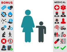 Stock Illustration of Mother With Son Icon