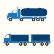 Truck symbol - stock illustration