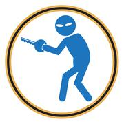 Hacker, Internet security concept. Thief icon - stock illustration