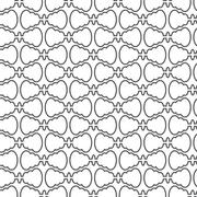 Stock Illustration of abstract seamless pattern curve vector background