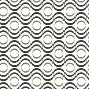 Vector seamless pattern wave monochrome background - stock illustration