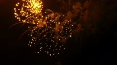 Firework display Stock Footage